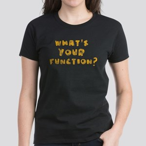Whats Your Function Orange on Women's Dark T-Shirt