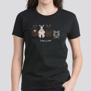 Med. Miniature Donkey Women's Dark T-Shirt
