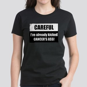 Kicked Cancer's Ass Women's Dark T-Shirt
