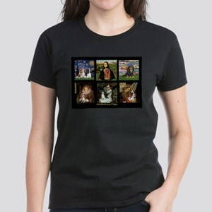 Cavalier Famous Art Comp1 Women's Dark T-Shirt