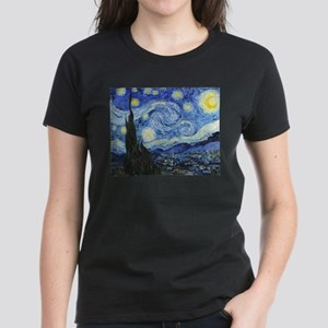 The Starry Night by Vincent V Women's Dark T-Shirt