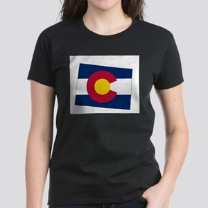 Colorado State outline Map and Flag T-Shirt
