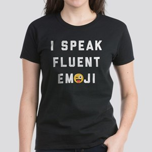 I Speak Fluent Emoji Women's Dark T-Shirt