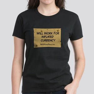 Will Work Inflation 2 Women's Dark T-Shirt