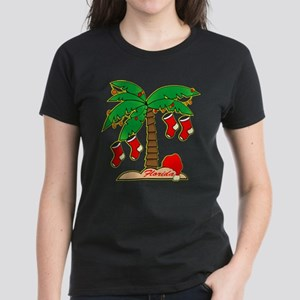 Florida Christmas Tree Women's Dark T-Shirt