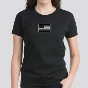 Subdued US Flag Tactical C Women's Dark T-Shirt