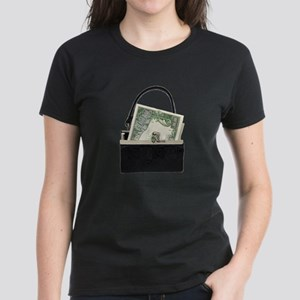 Purse With Big Bucks Women's Dark T-Shirt