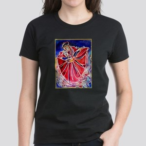 Fiesta Dancer, bright, art, Women's Dark T-Shirt