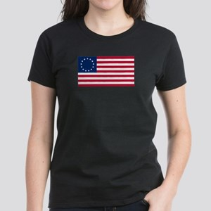 Betsy Ross Flag Women's Dark T-Shirt