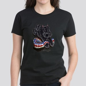 Black Schnauzer Afghan Women's Dark T-Shirt