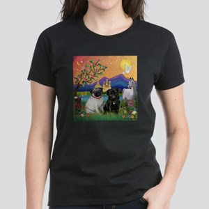 Fantasy Land / Two Pugs Women's Dark T-Shirt