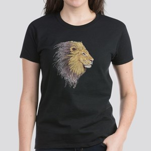 Lion Head Women's Dark T-Shirt