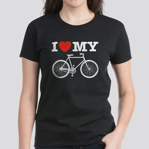 I Love My Bicycle Women's Dark T-Shirt