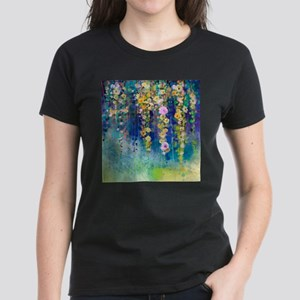 Floral Painting Women's Dark T-Shirt