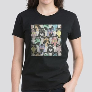 Hipster Cats Women's Dark T-Shirt