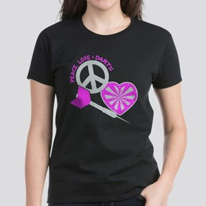 PEACE-LOVE-DARTS Women's Dark T-Shirt