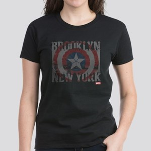 Captain America Brooklyn Dist Women's Dark T-Shirt