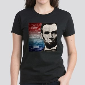 Patriot Abraham Lincoln Women's Dark T-Shirt