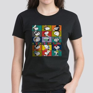Snoopy-You Can Be Anything Women's Dark T-Shirt
