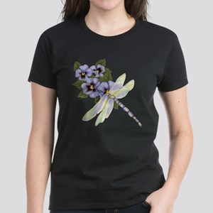 Pansy Floral Women's Dark T-Shirt