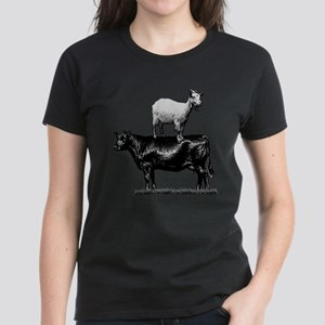 Goat on a Cow Women's Dark T-Shirt