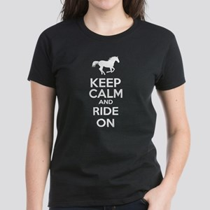 Keep calm and ride on Women's Dark T-Shirt
