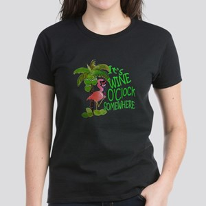 Its Wine OClock Somewhere Women's Dark T-Shirt