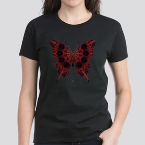 Talisman Black Butterfly Women's Dark T-Shirt