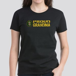 U.S. Army: Proud Grandma Women's Dark T-Shirt