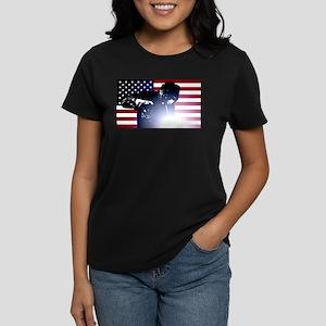 3589e03b Welding: Welder & American Flag T-Shirt