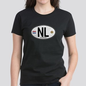 Netherlands Intl Oval Women's Dark T-Shirt