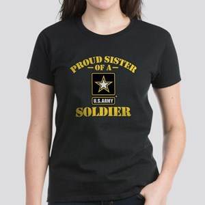 e80253c6 Proud U.S. Army Sister Women's Dark T-Shirt