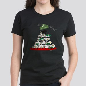 Funny Sheep Christmas Tree Women's Dark T-Shirt