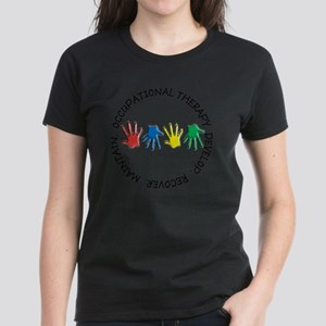 OT CIRCLE HANDS 2 Women's Dark T-Shirt