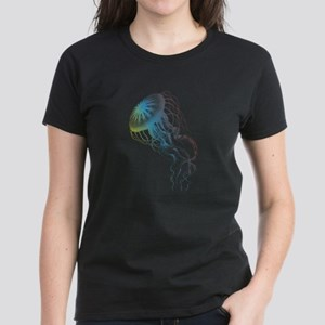 colorful jellyfish silhouette T-Shirt