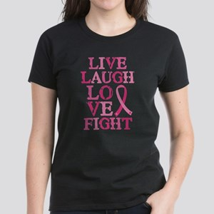 Live Love Fight Women's Dark T-Shirt