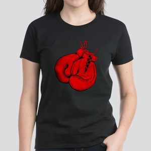 Red Boxing Gloves Women's Dark T-Shirt
