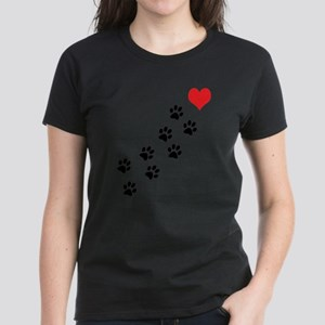 Paw Prints To My Heart Women's Light T-Shirt