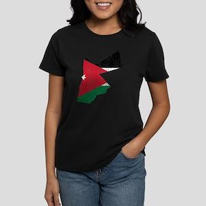 0ddaa9c9260 Jordan Flag And Map Women's Dark T-Shirt