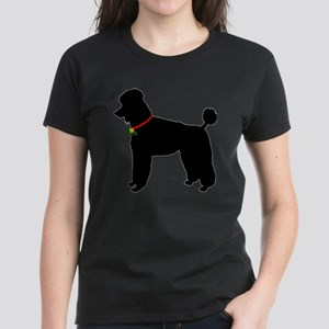 Poodle Christmas or Holiday S Women's Dark T-Shirt