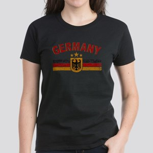 Germany Sports Shield Women's Dark T-Shirt