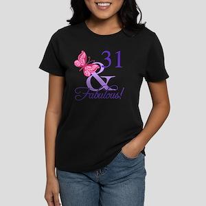 Fabulous 31st Birthday Womens Dark T Shirt