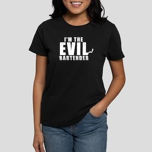 147a73f8f I'm The Evil Bartender Women's Dark T-Shirt
