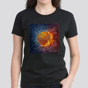 Flaming Basketball Ball Splash T-Shirt
