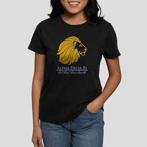 Alpha Delta Pi Lion Logo Women's Dark T-Shirt