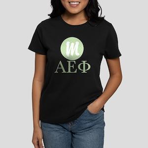 Alpha Epsilon Phi Monogram Women's Dark T-Shirt