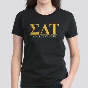 Sigma Delta Tau Greek Letters Women's Dark T-Shirt