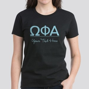 Omega Phi Alpha Personalized Women's Dark T-Shirt