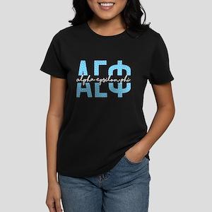 Alpha Epsilon Phi Polka Dots Women's Dark T-Shirt