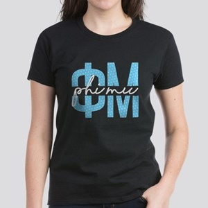 Phi Mu Polka Dots Women's Dark T-Shirt